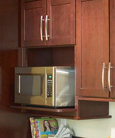 14 best images about microwaves on pinterest countertop for Kraftmaid microwave shelf