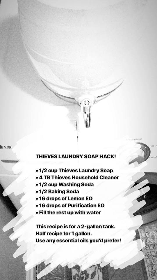 Thieves Laundry Detergent Hack Laundry Soap Laundry