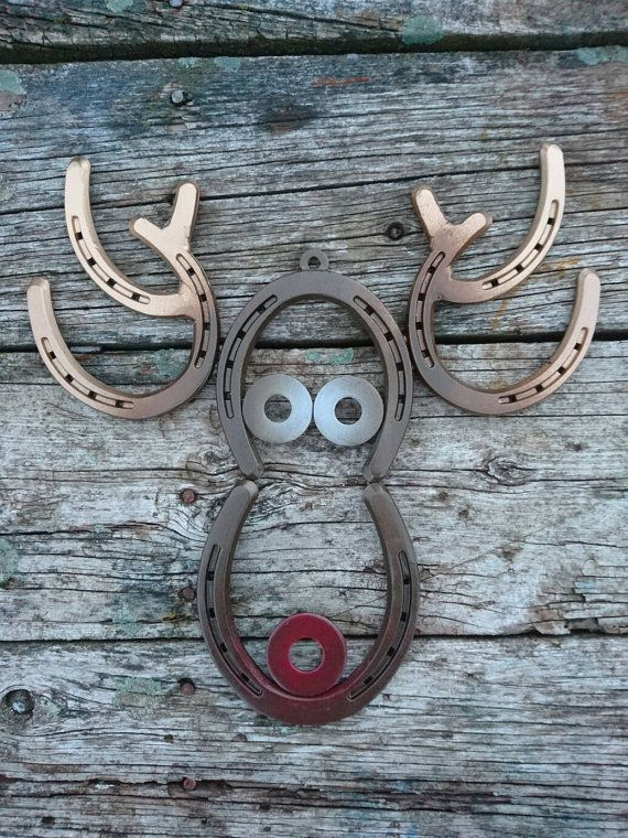 Rustic Christmas Reindeer Wall Hanging With Blinking Nose