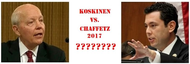 Rep. Jason Chaffetz really wanted to get IRS Commissioner John Koskinen fired? Will the Utah representative still focus on that now that he's leaving his House job?