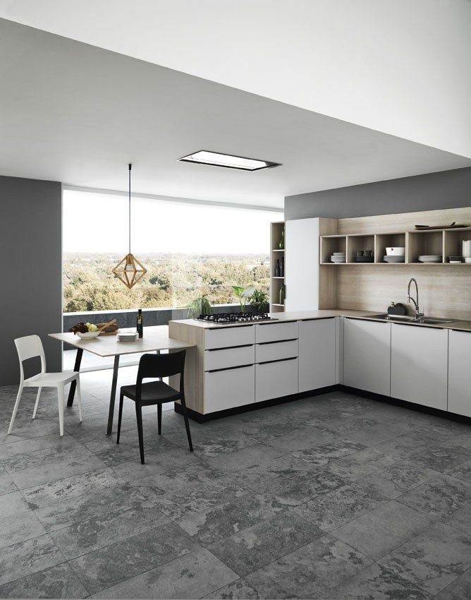 Fitted Kitchen With Handles ARIEL   COMPOSITION 1   Cesar Arredamenti