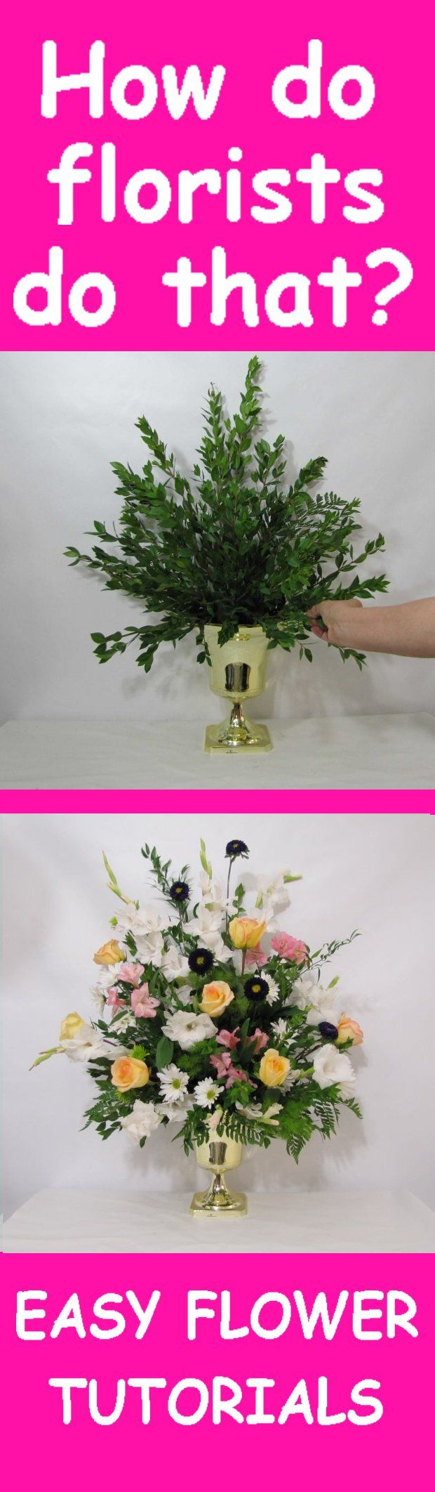 Altar Flowers Tutorial - Adding Yellow Roses