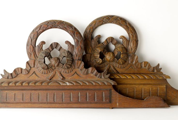 Antique Twin Bed Headboards - Vintage His and Hers Bed Head - French Carved Wood by CrolAndCo on Etsy