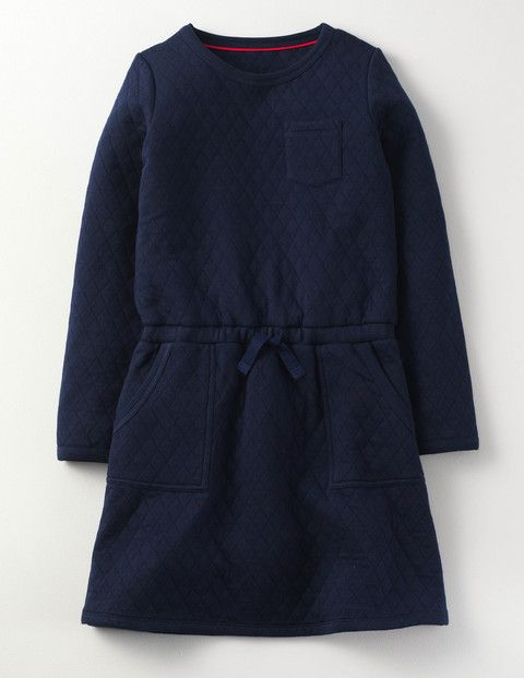 Mini Boden Cosy Quilted Jersey Dress Navy Girls Boden, Navy On those extra chilly days, wouldnt it be lovely to stay wrapped up in your duvet all day? Well, now you can (kind of). This easy-to-wear dress is made from supersoft quilted jersey and features an el http://www.MightGet.com/january-2017-13/mini-boden-cosy-quilted-jersey-dress-navy-girls-boden-navy.asp