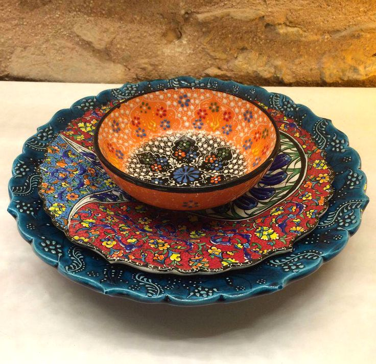 TURKISH CERAMIC DINNERWARE SET FOR ONE : turkish tableware - pezcame.com