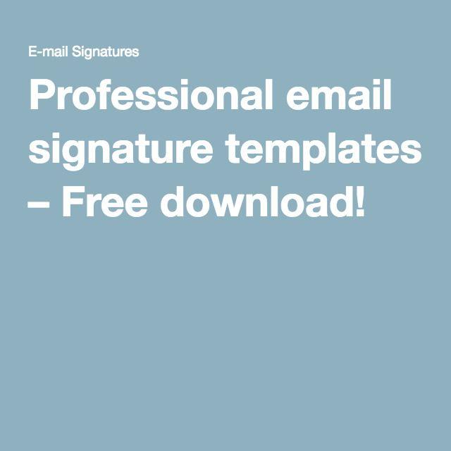Pinterestu0027teki 25u0027den fazla en iyi Email signature templates fikri - email signature template