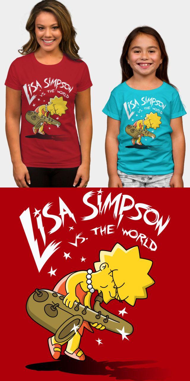 838485054 Lisa Simpson Saxophone T Shirt   Music T Shirts   Shirts, Saxophone ...