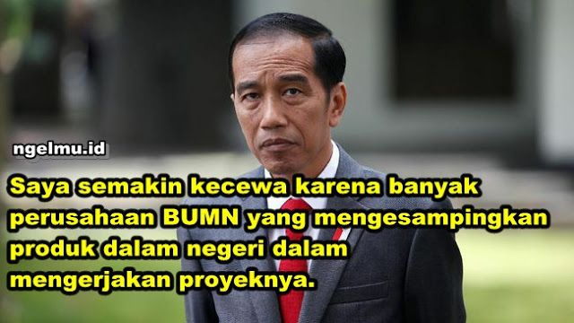Berita Islam ! Beliau Sendiri yang Mengijinkan Impor Beliau Sendiri yang Kecewa BUMN Gunakan Produk Impor... Bantu Share ! http://ift.tt/2vheWkR Beliau Sendiri yang Mengijinkan Impor Beliau Sendiri yang Kecewa BUMN Gunakan Produk Impor  Presiden Joko Widodo (Jokowi) menilai penerapan tingkat komponen dalam negeri (TKDN) belum sesuai ekspetasi yang diharapkan. Jokowi semakin kecewa karena banyak perusahaan BUMN yang mengesampingkan produk dalam negeri dalam mengerjakan proyeknya mereka lebih…