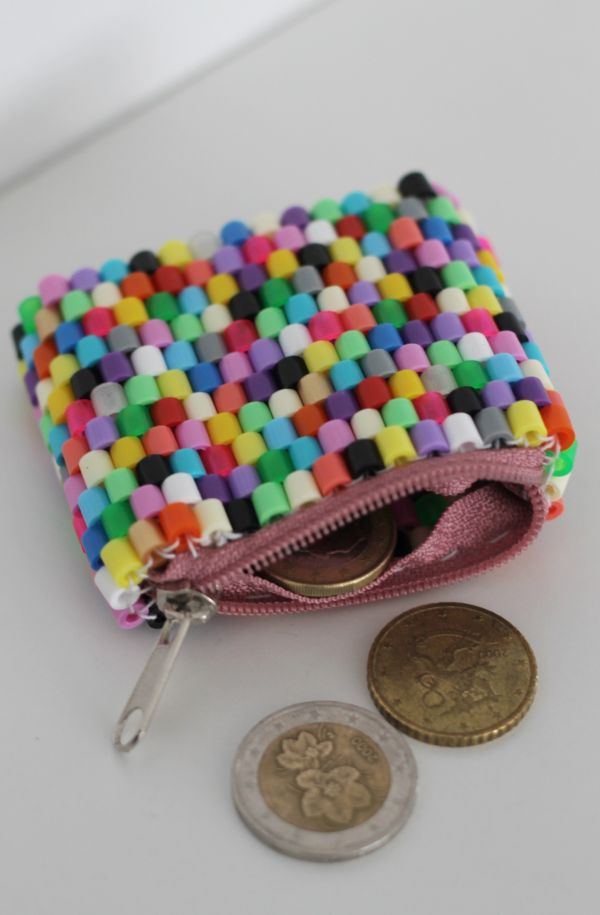 Perler bead coin purse by p i i p a d o o