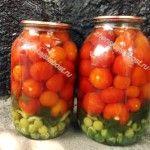 Маринованные помидоры с виноградом (без уксуса)