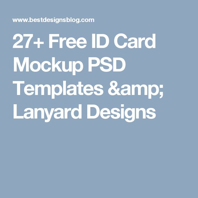 8 best Lanyard images on Pinterest Board, Editorial design and Ideas - id card psd template