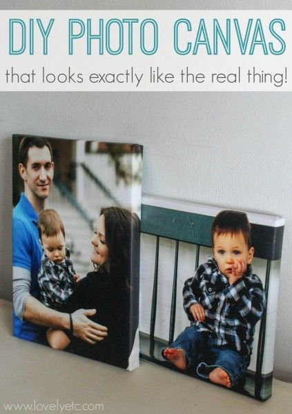 Finally a tutorial for making your own photo canvases that actually look just like the real thing! With wrapped edges and authentic canvas texture.
