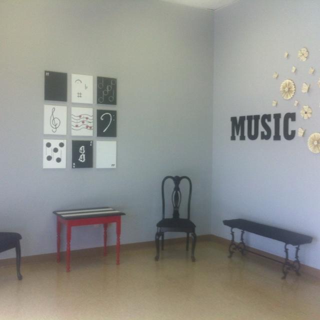 Music studio decor
