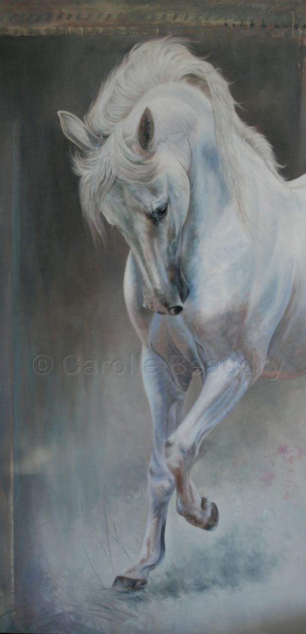 "Oil on canvas by Carolle Beaudry 60"" X 30"""