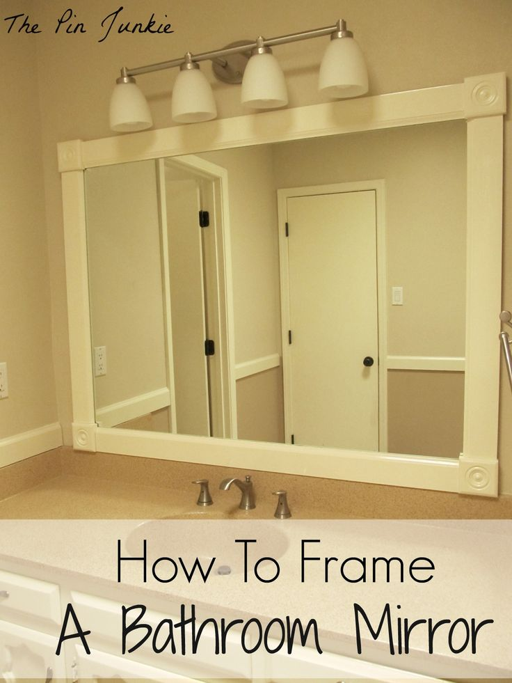 17 best ideas about framed bathroom mirrors on pinterest diy framed mirrors bathroom updates for Pinterest framed bathroom mirrors
