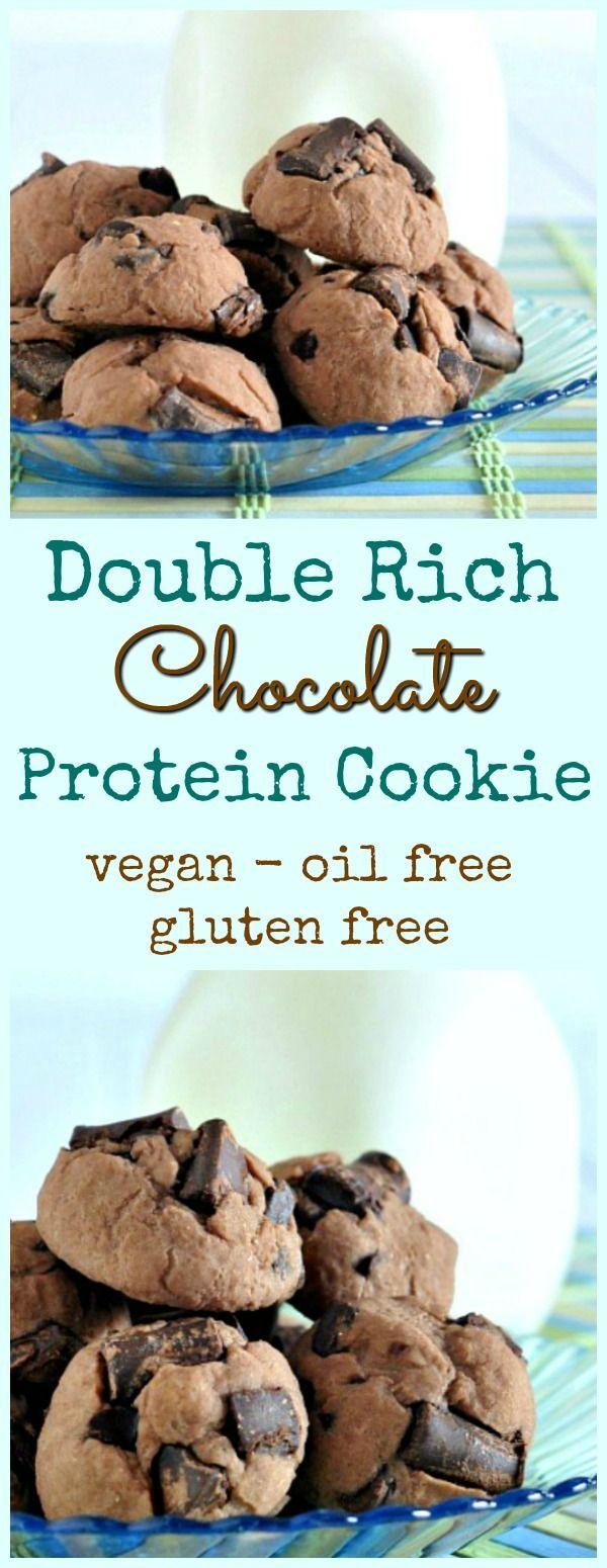 Double Rich Chocolate Protein Cookie @spabettie #vegan #oilfree #glutenfree #protein