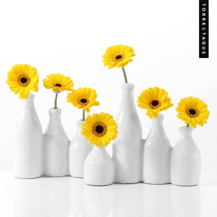 Brighten up your kitchen countertop with a touch of spring - these Milk Bottle Multi Vase are fun and add an instant touch of freshness. #TorreAndTagus #MilkBottleMultiVase #MayFlowers #HomeDecor www.torretagus.com