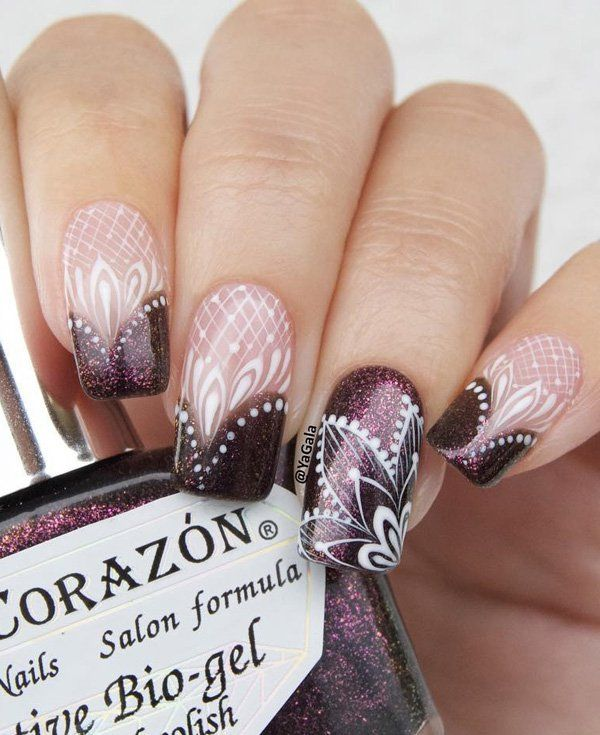 This form of nail stands almost everyone and is very attractive. If you are not good drawer go to the salon and do this adorable glamorous manicure that can be your main decoration this January.