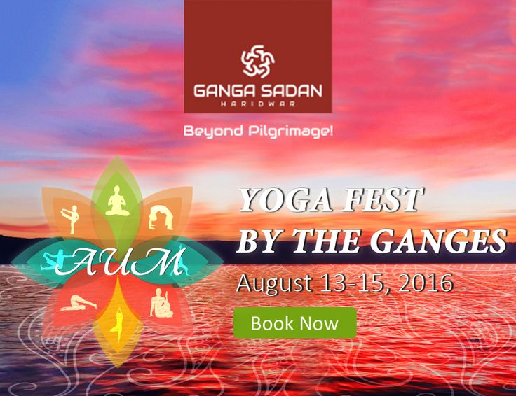 Join us for a three-day yoga carnival on the banks of river Ganga  Looking for things to do over the coming long weekend in August? Hotel Ganga Sadan brings to you a unique slice of ethnicity on the banks of India's most important river – the holy Ganges. We are celebrating Yoga – the art of physical, mental and spiritual discipline – a gift from India to the world. Join us for three-days of great fun at Hotel Ganga Sadan Haridwar – the best hotel near Har ki Pauri Ghat.
