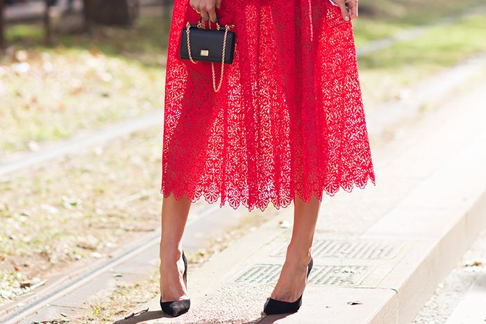 lady-like dress & micro bag, SARAH NICOLE