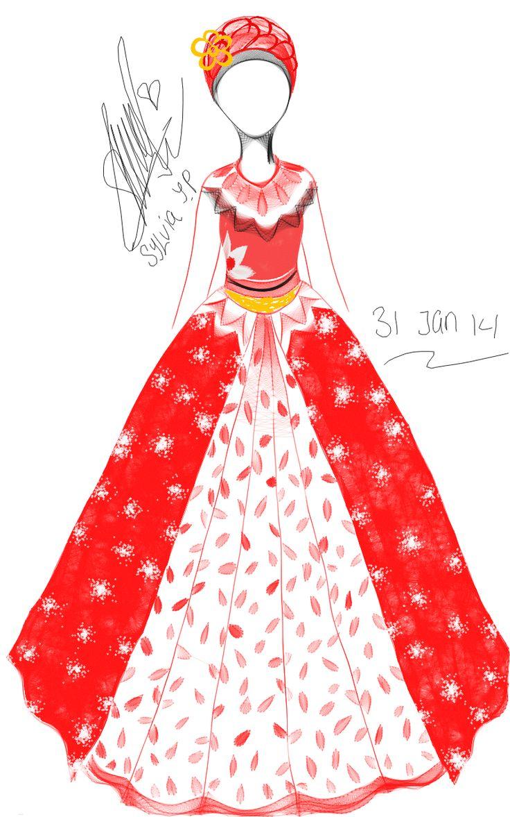 aku suka ini, hanya berimajinasi. suatu saat aku ingin membuat gaun seperti ini