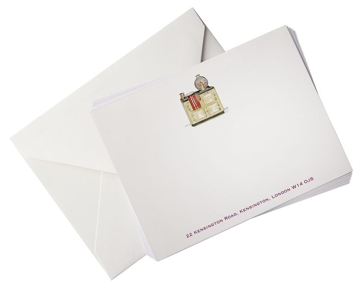 ideal gift option aga luxury correspondence cards illustrated personalised with envelopes select any artwork