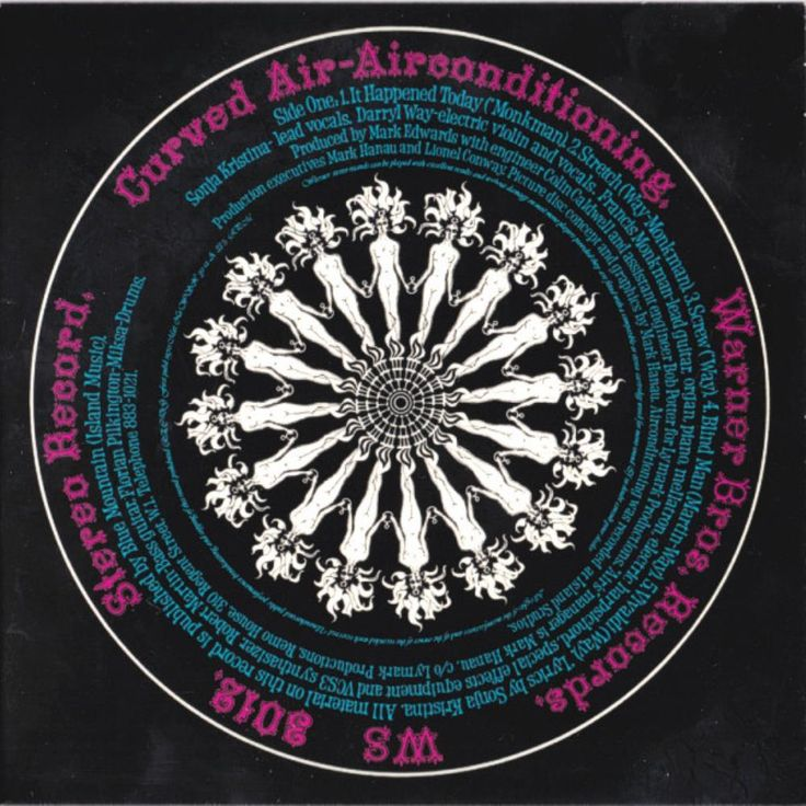 """""""Air Conditioning"""" Curved Air (1970) album cover art. The"""