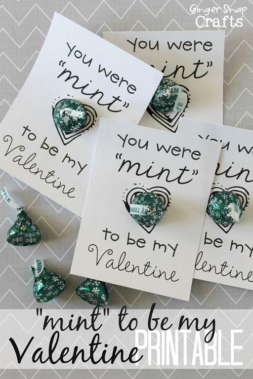 """Mint"" to Be My Valentine {printable} & Valentine Blog Hop - Ginger Snap Crafts"