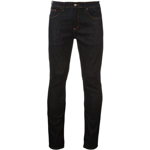 Hilfiger Denim Tapered Steve Mens Jeans ($69) ❤ liked on Polyvore featuring men's fashion, men's clothing, men's jeans, mens slim fit jeans, mens slim jeans, mens jeans, mens tapered jeans and mens slim tapered jeans