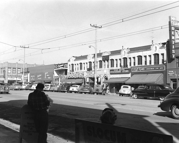 Van Nuys Bl. and Friar, Van Nuys, CA. 1950