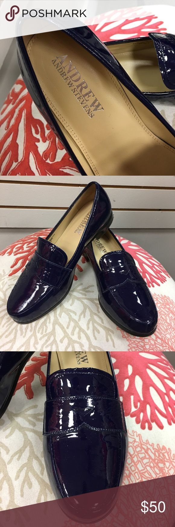 Andrew Stevens Navy Patent Leather Loafer Navy blue patent leather penny loafer. Great used condition. Please examine photos carefully, ask questions and make offers! All sales from this closet benefit a Women's Resource Center in Florida. Andrew Stevens Shoes Flats & Loafers