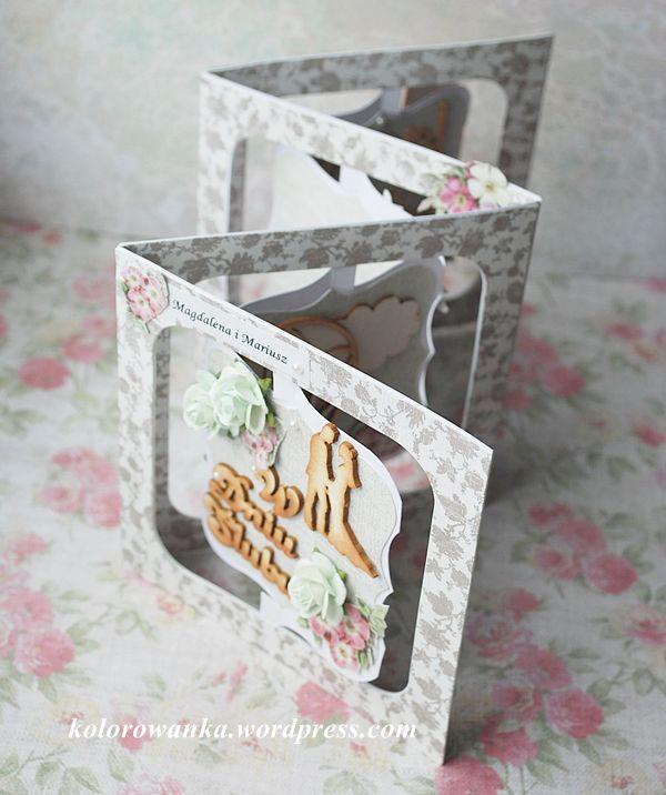 nietypowa kartka na ślub/outstanding wedding card