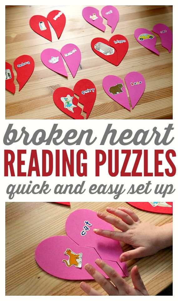 Easy literacy activity. Make these reading puzzles for literacy centers, or as…