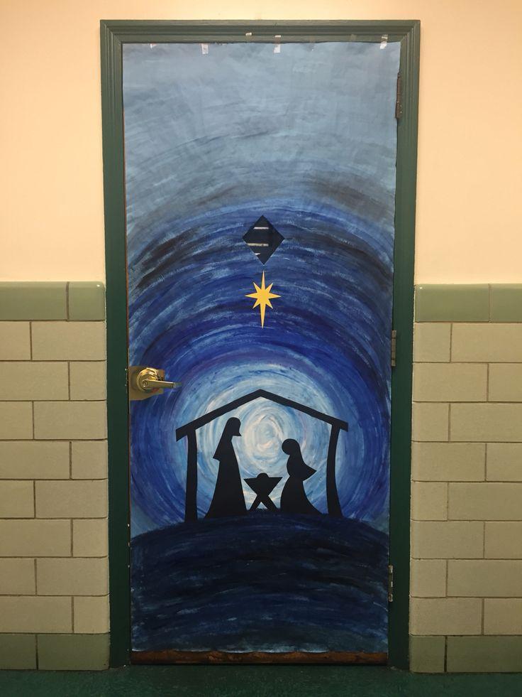 Classroom Door Decoration Nativity Scene Holiday