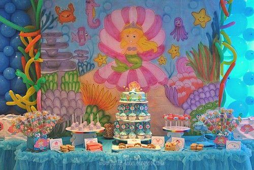 Fiestas infantiles inspiradas en La Sirenita: Birthday Bash, Birthday Parties, Sea Birthday, Sea Party, Under The Sea, Party Ideas, Party Tales, Mermaid Party, Birthday Party