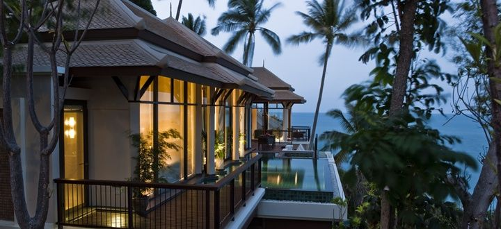 88 private pool villas are nestled between cascading hillside terraces, furnished with stylish Thai interior  http://www.abercrombiekent.co.uk/thailand/kohsamui/banyan-tree-samui.cfm