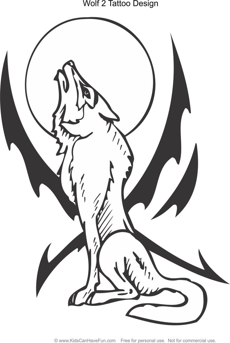 tattoo coloring pages for kids to color - Coloring Pages Of Wolves