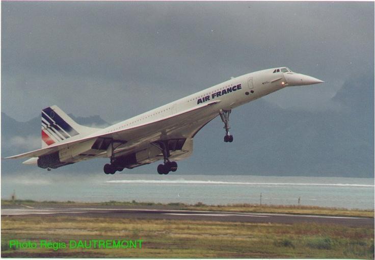Concorde in Tahiti