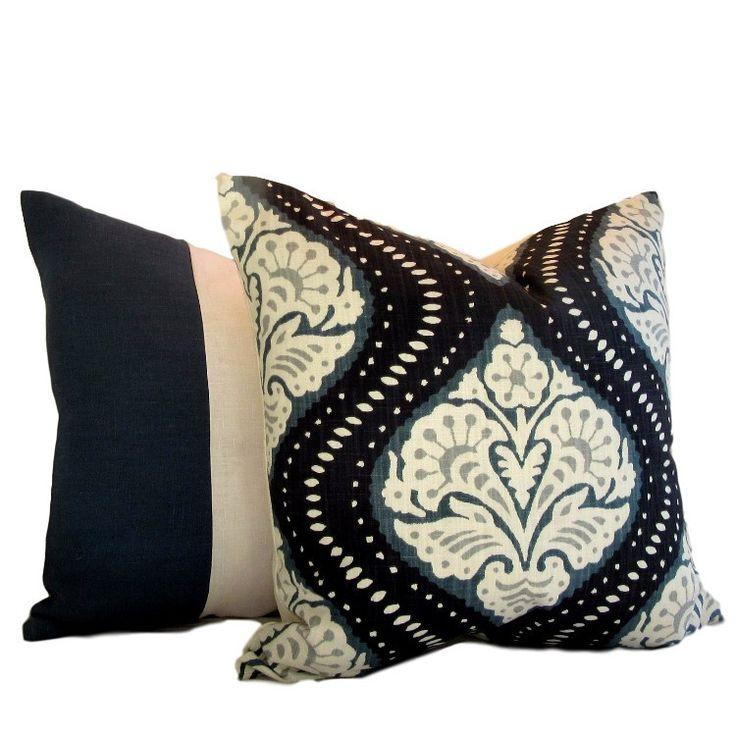 DwellStudio Pillow Cover Kavali Ogee Midnight
