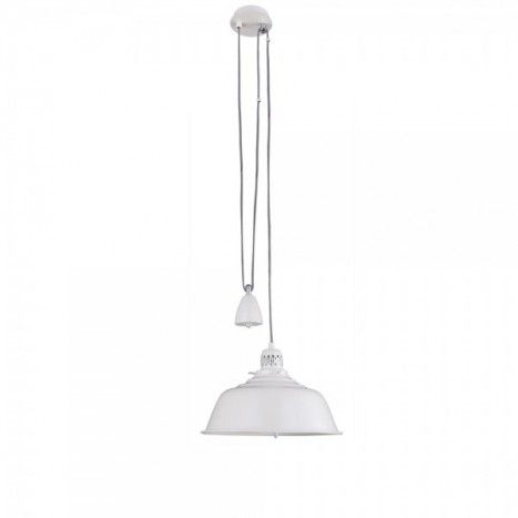RISE FALL ADJUSTABLE CREAM CEILING PENDANT LIGHT