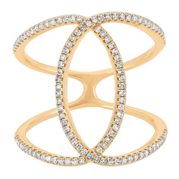 14k gold 25ct tdw diamond double ring 4 520 sek liked