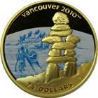 2008 Canada $75 Gold Olympic Dogsled Coin (.2249 oz of Gold) Vancouver Olympics