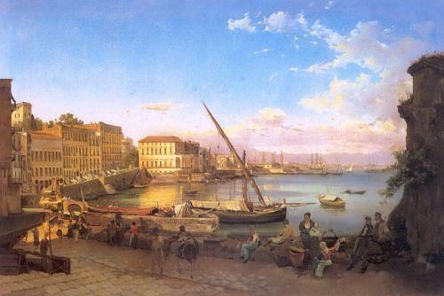 Sylvester Shchedrin Site Lucia Embankment in Naples. 1820
