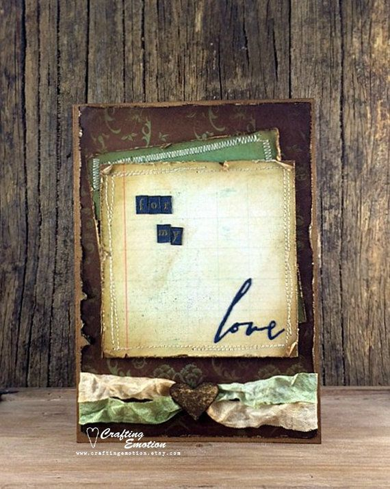 Handmade Rustic Love Note Card by Crafting Emotion $14.75AUD