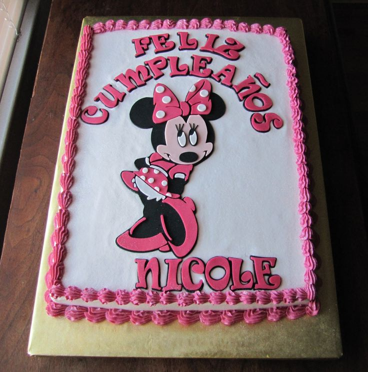 Minnie Mouse Sheet Cake Images : 251 best images about Sheet cakes on Pinterest Wedding ...