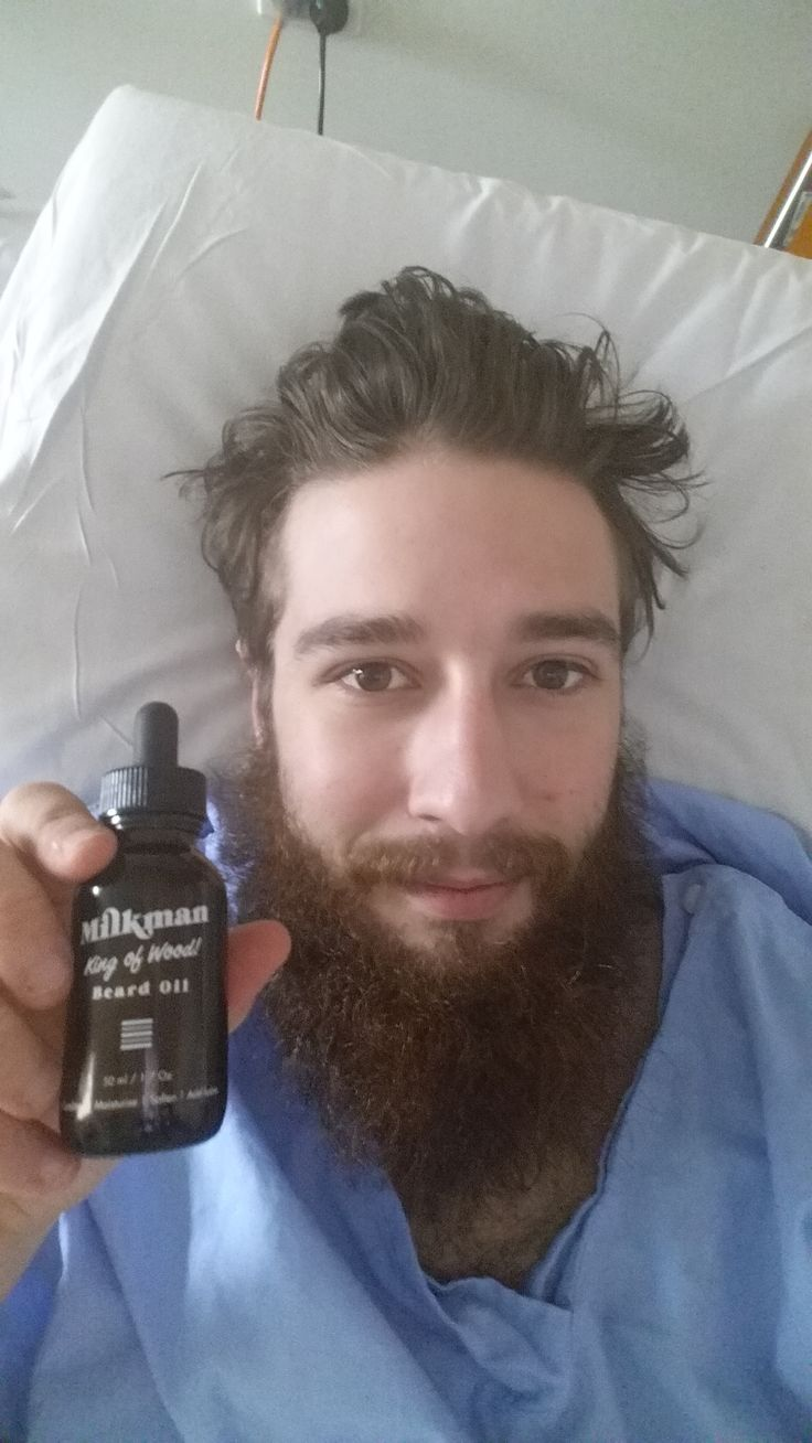 "Even in hospital our awesome customers can't do without their Milkman beard gear. Poor Mr Kotzas had a bike accident recently but was kind enough to contact us saying that ""Hey guys! I've been using a variety of beard oil for over a year and I've fallen for the King of wood"". Needless to say he got a discount for his next order. Rock on good sir and get well soon! #beard #beardcare #beardoil #beardlife #beardbro #beardgroup Get your beard oil at www.milkmanaustralia.com/products/beard-oil"