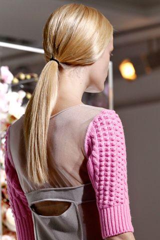 Jil Sander, low ponytail #Beauty #HairLow Ponytail, Knits Inspiration, Jill Sander, Jil Sander Knits, Fall 2012, Sander F12, Fashion 201213, Pastel Colors, Hair