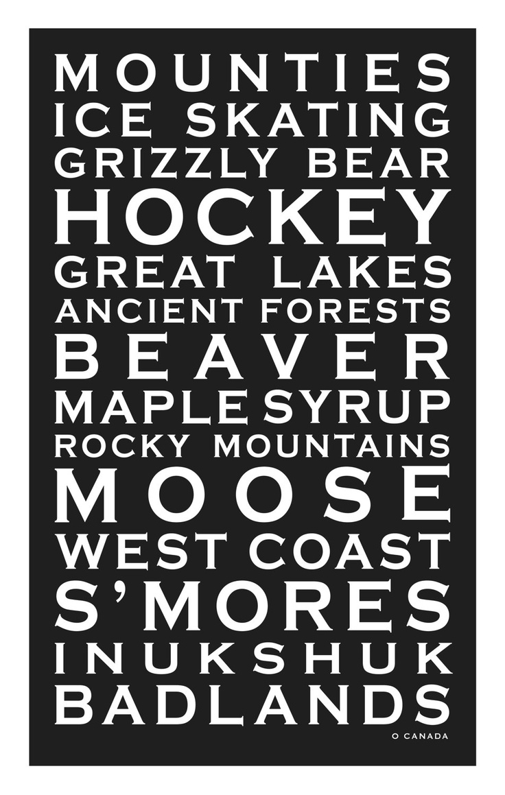 Place Names Canvas - O Canada.