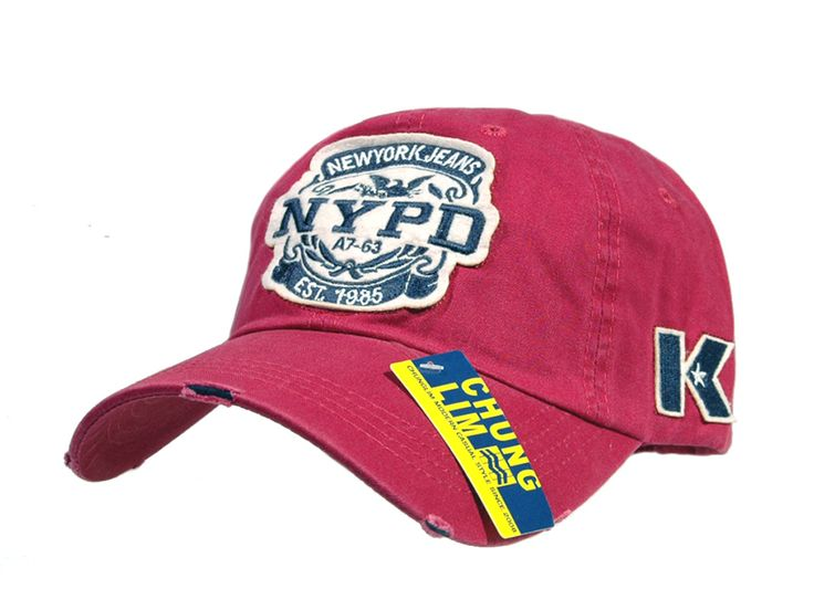 nypd baseball hat distressed cap fuchsia caps official