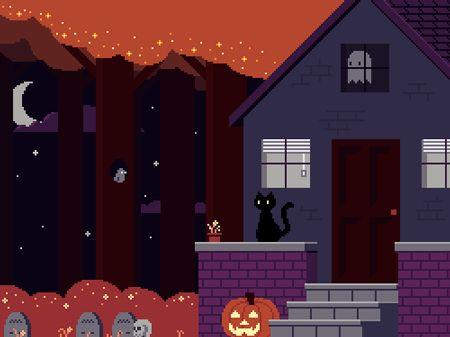 Casas Assombradas em Halloween